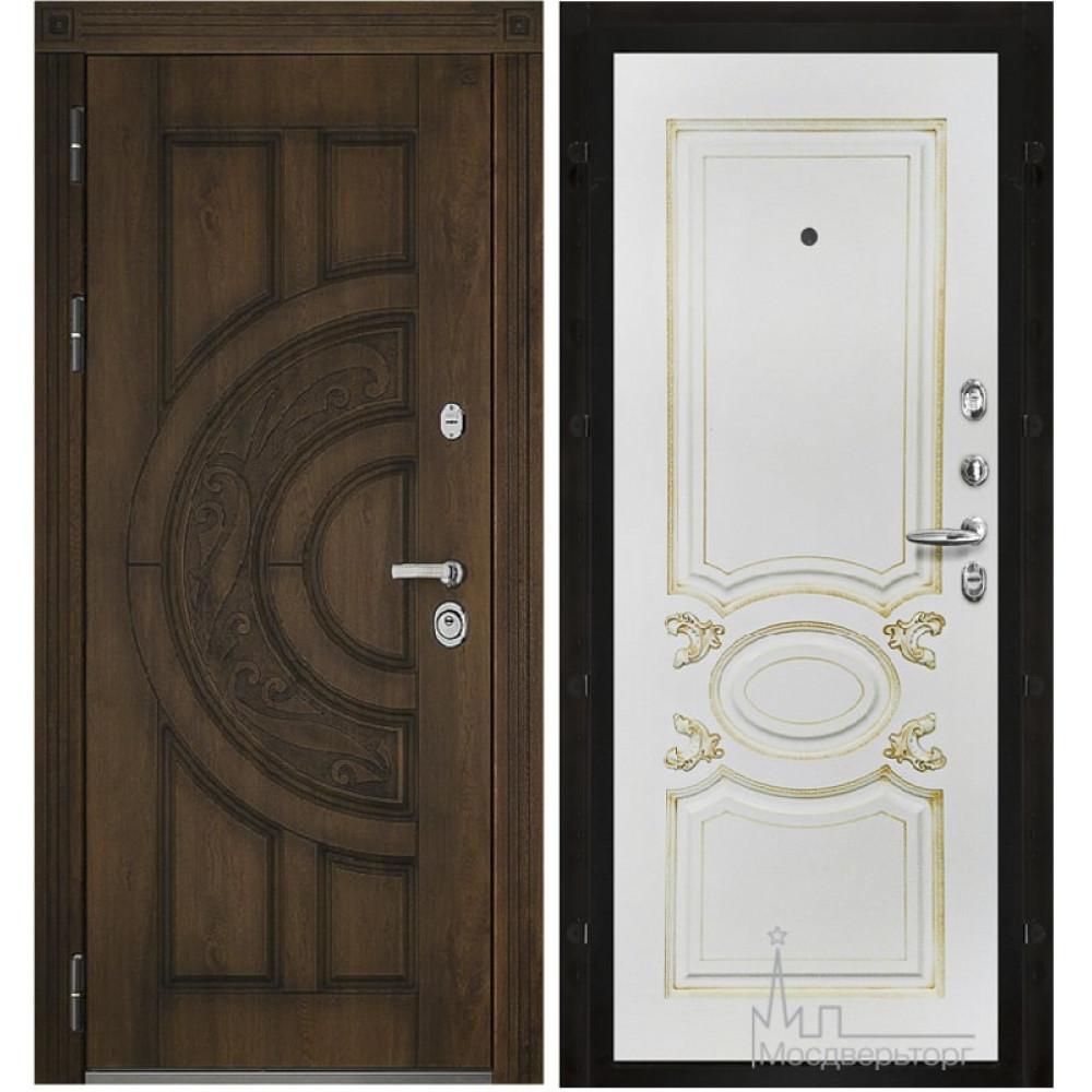 Входная дверь Атлант, белая эмаль