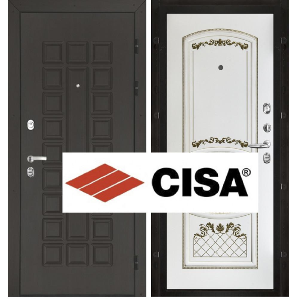 Входная дверь Сенатор Cisa, белая эмаль