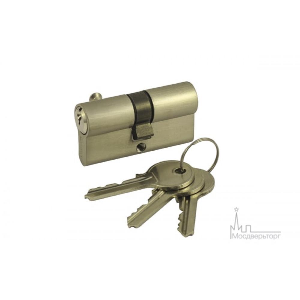 Цилиндр ключ-ключ V60-5 SN никель