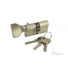 Цилиндр ключ-вертушка VC60-5 SN никель