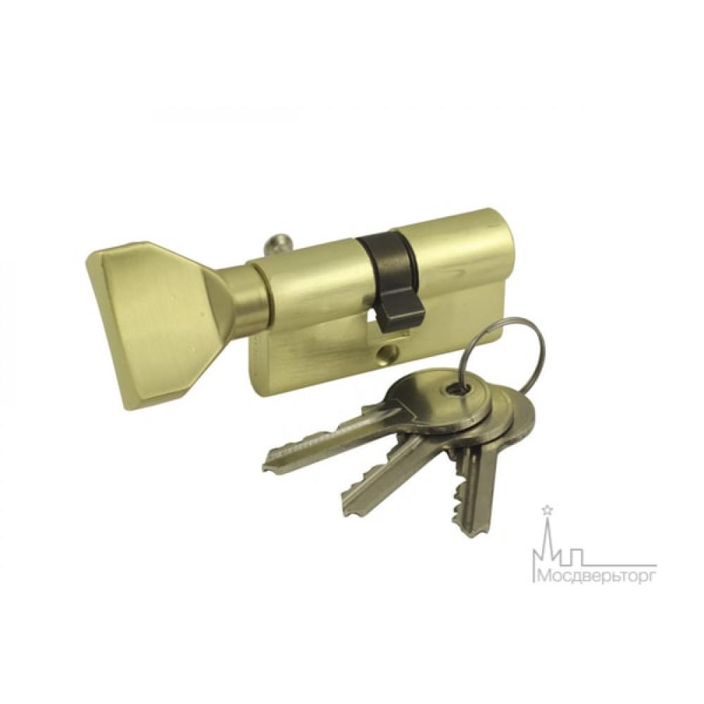 Цилиндр ключ-вертушка VC60-5 SB золото