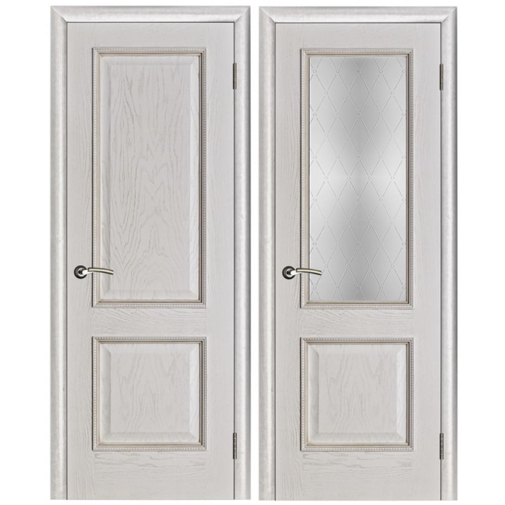 Межкомнатная дверь Шервуд белая патина