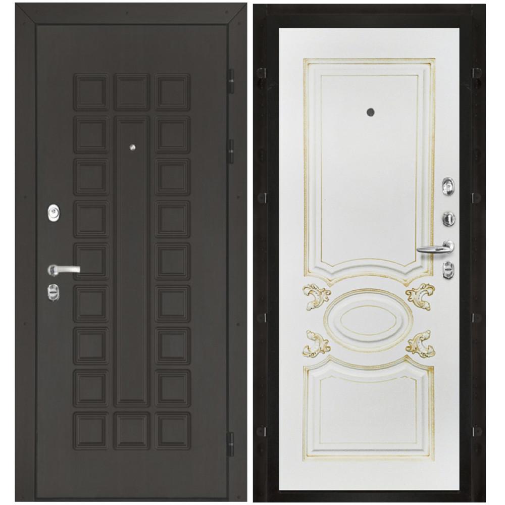 Входная дверь Сенатор, панели белая эмаль