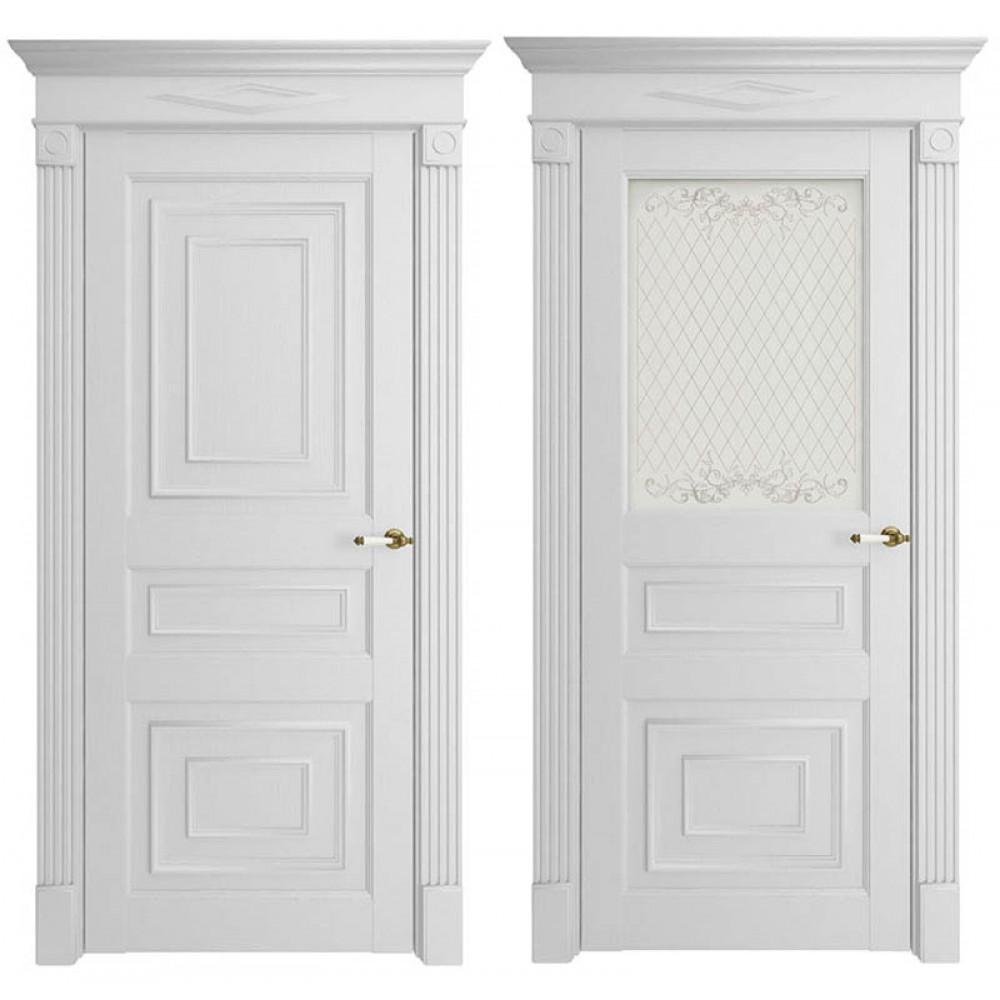 Межкомнатная дверь Экошпон  62001 Белая
