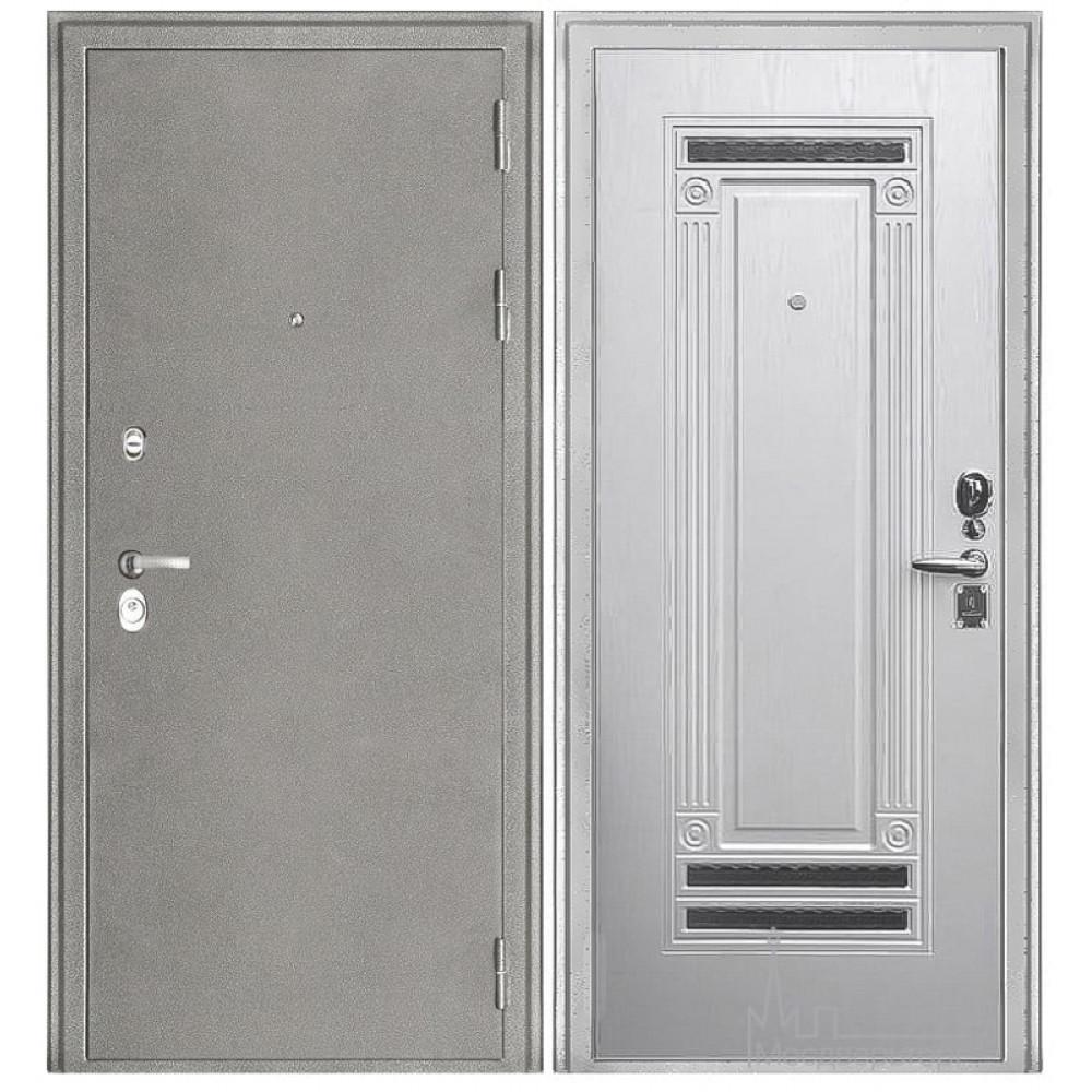 """Входная дверь """"Колизей"""" белое серебро"""