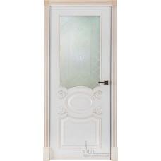 Аристократ эмаль белая+патина капучино (стекло)