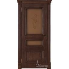 Межкомнатная дверь Барселона, дуб Brandy, стекло
