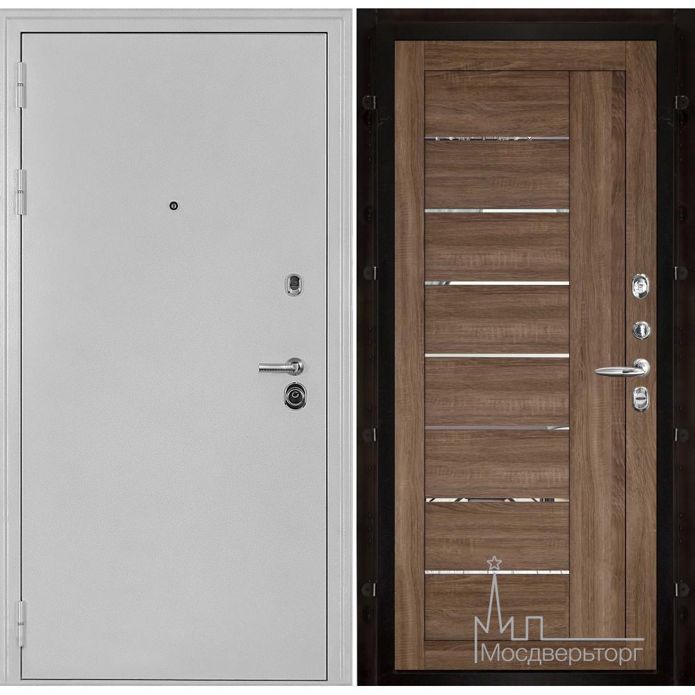 Колизей белое серебро панель 2110 Серый велюр с зеркальными вставками