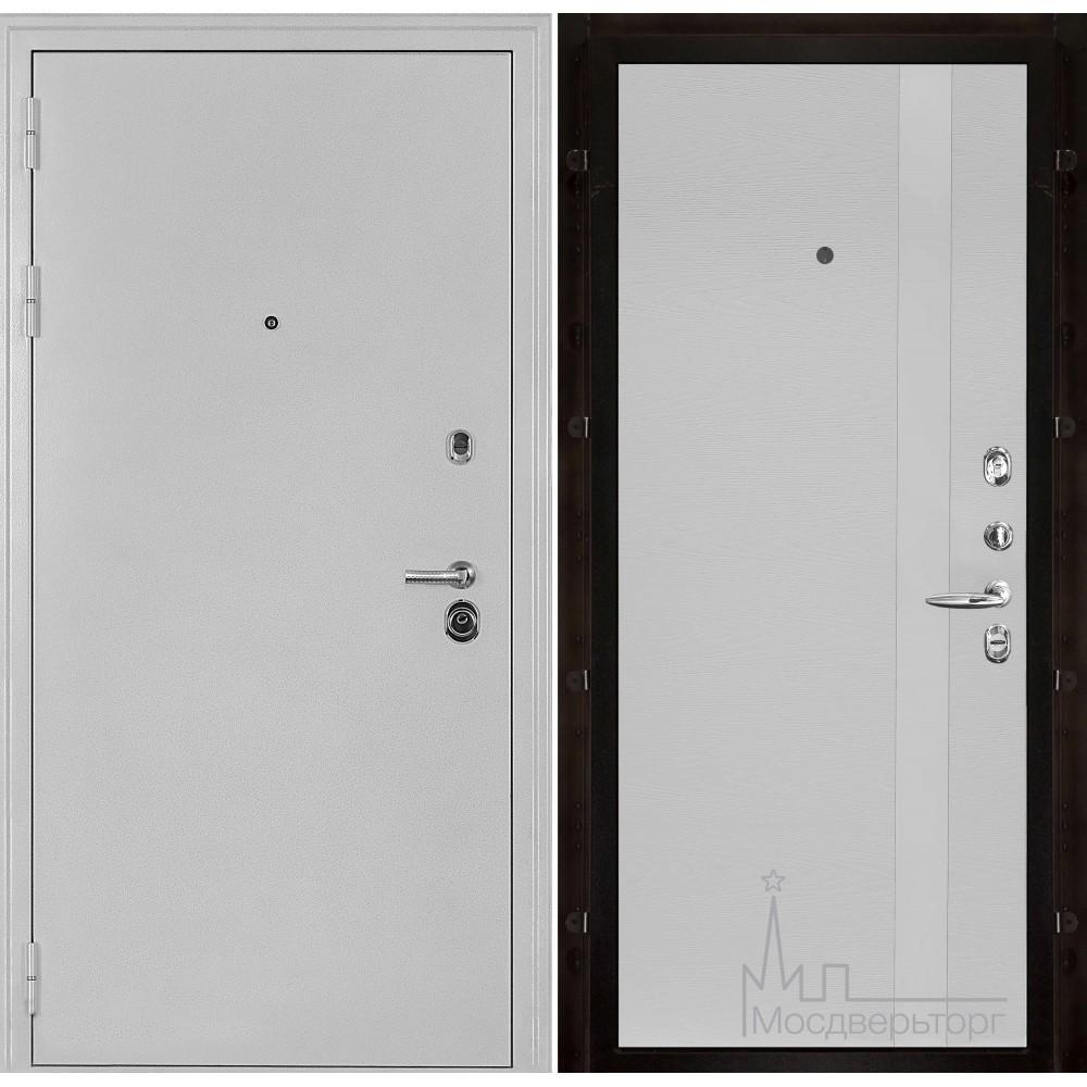 Входная дверь Колизей белое серебро панель Уно Чиаро патина аргентум