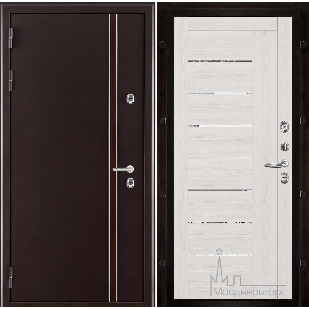 Норд (терморазрыв) панель Экошпон 2110 капучино велюр с зеркальными вставками
