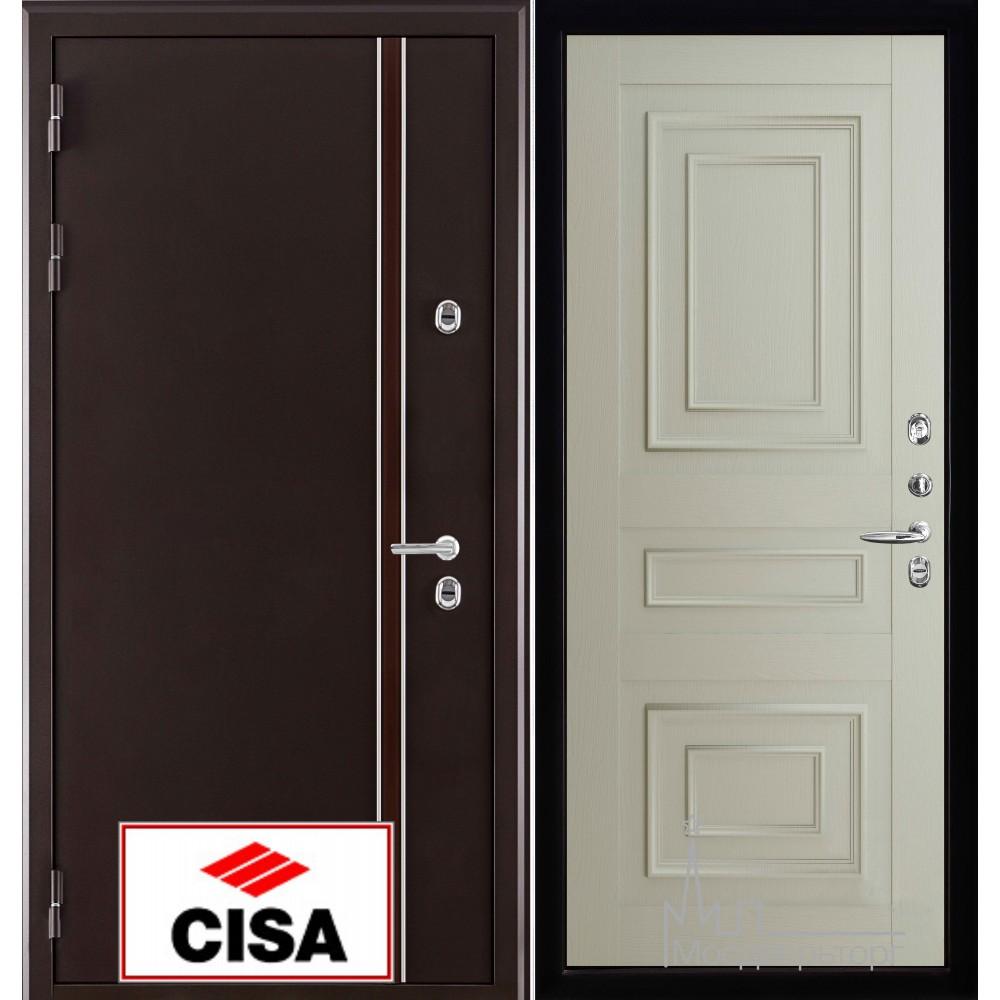 Норд (терморазрыв) панель 62001 серена светло серая замки Cisa с перекодировкой