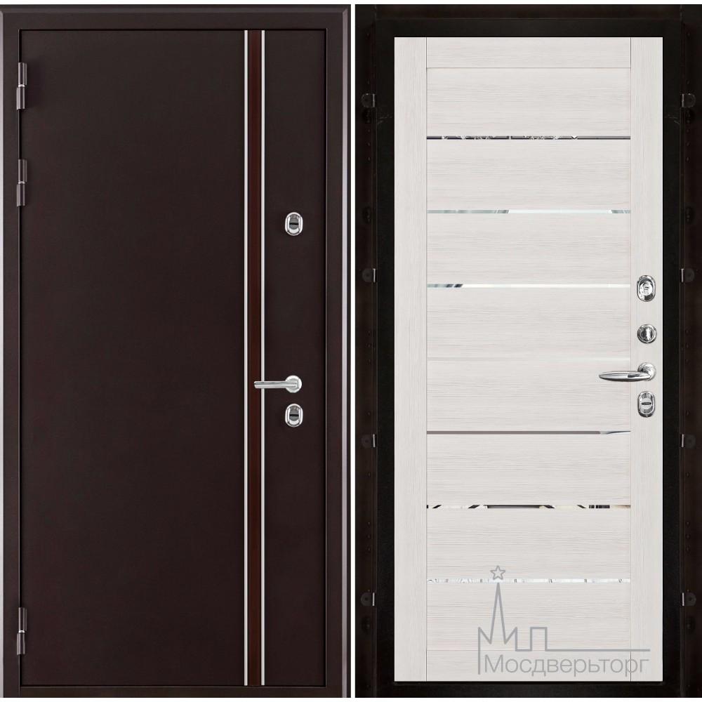 Норд (терморазрыв) панель Экошпон 2125 капучино велюр с зеркальными вставками