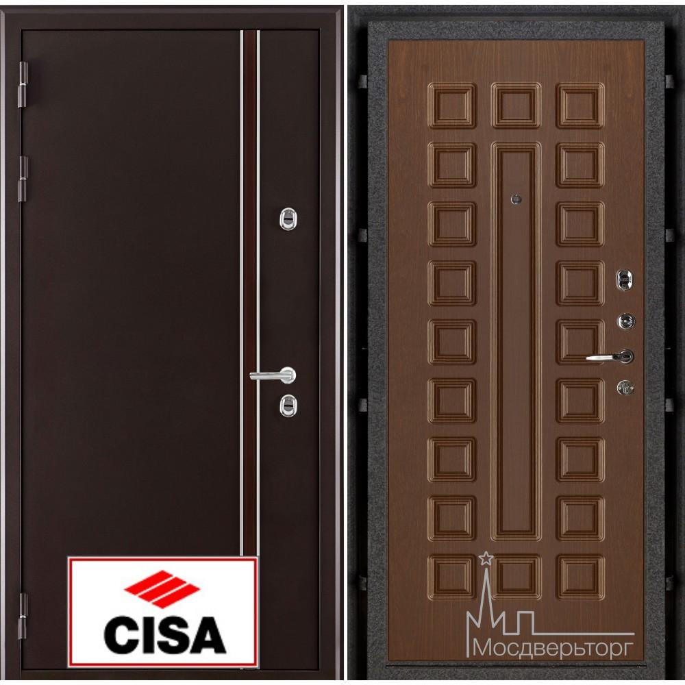 Норд (терморазрыв) панель Стандарт темный орех замки Cisa с перекодировкой