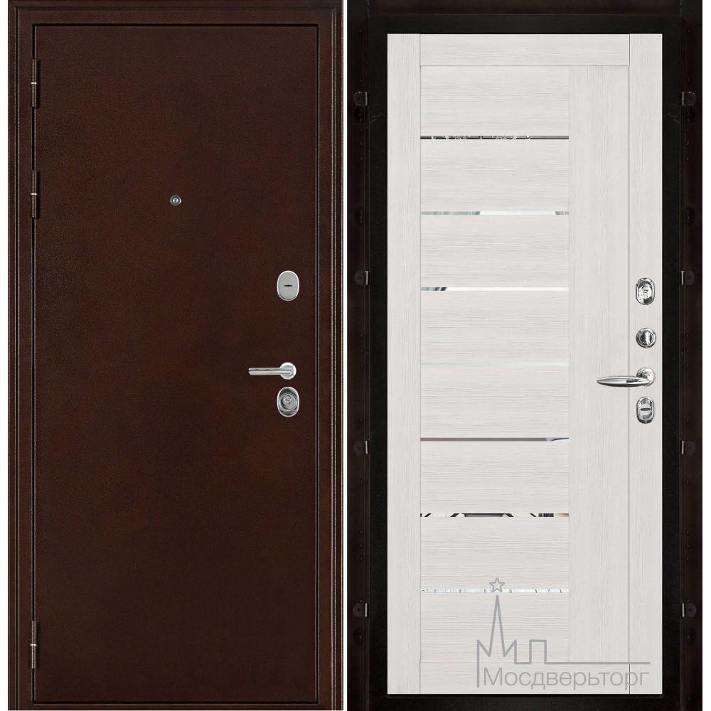 Феникс медный антик панель 2110 Капучино велюр с зеркальными вставками