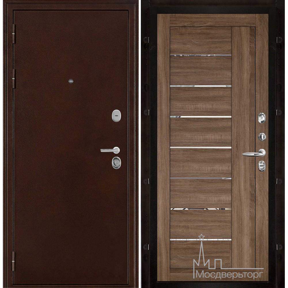 Феникс медный антик панель 2110 Серый велюр с зеркальными вставками
