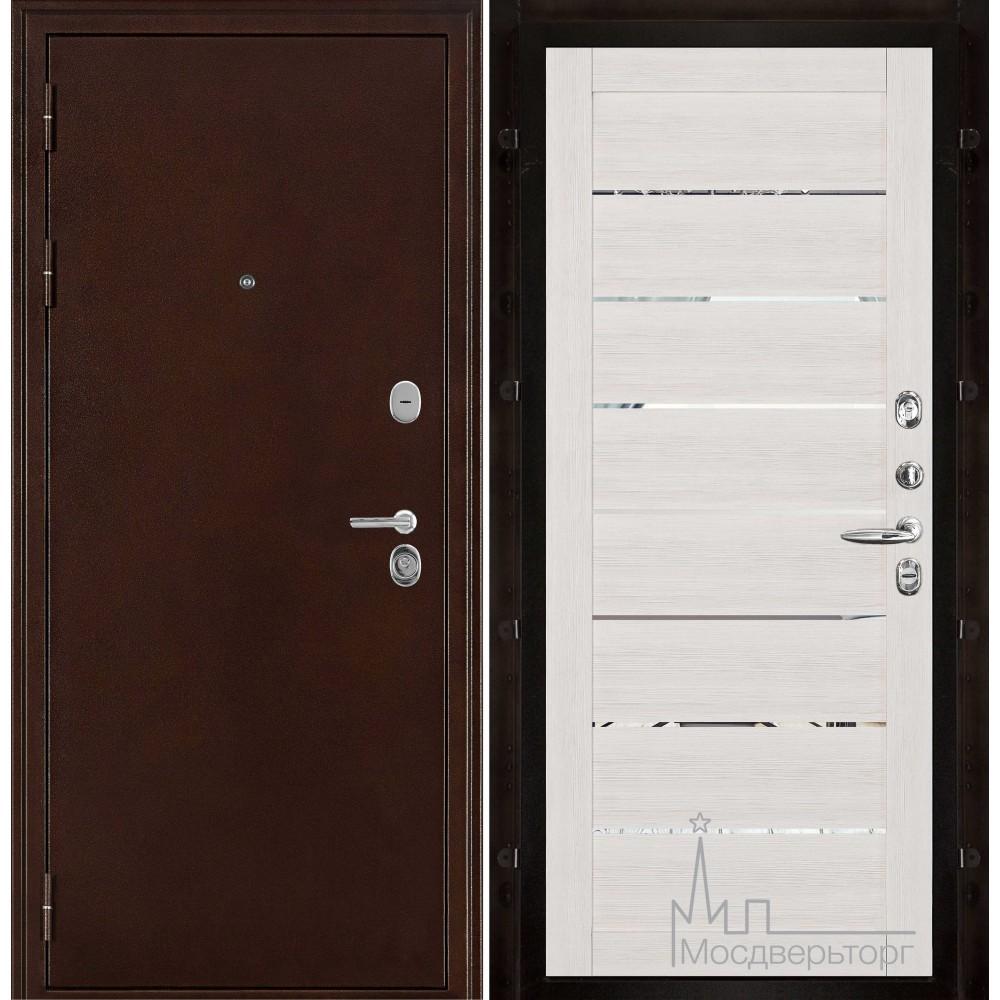 Феникс медный антик панель 2125 Капучино велюр с зеркальными вставками