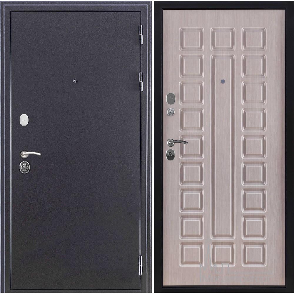 Входная дверь Спартак стандарт, антик темное серебро