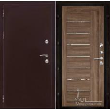 Термо-3 медный антик панель 2110 Серый велюр с зеркальными вставками
