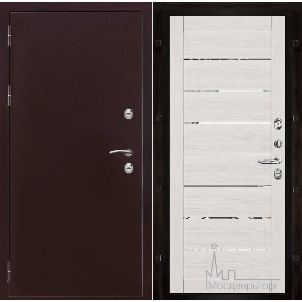 Термо-3 медный антик панель 2125 Капучино велюр с зеркальными вставками