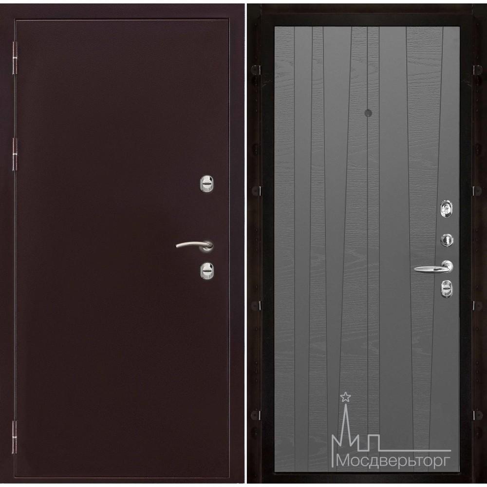 Термо-3 медный антик панель Trend гриджио натуральный шпон