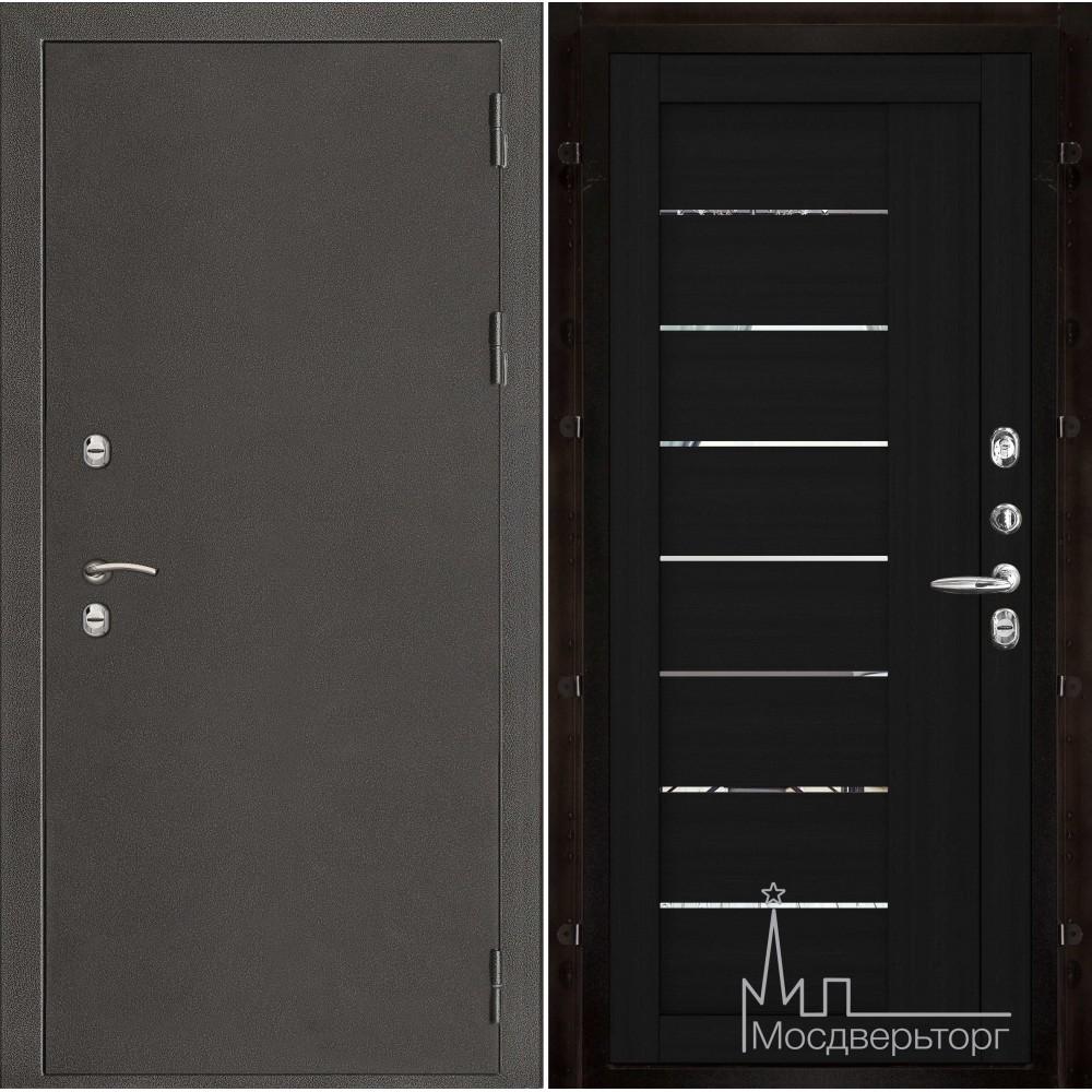 Термо-3 темное серебро панель 2110 Шоко велюр с зеркальными вставками