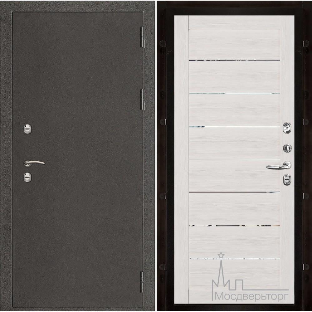 Термо-3 темное серебро панель 2125 Капучино велюр с зеркальными вставками
