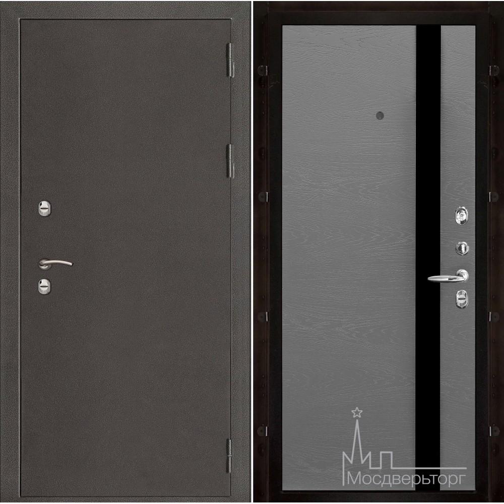 Термо-3 темное серебро панель Uno гриджио натуральный шпон