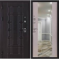 Входная дверь Консул ПВХ дуб светлый с зеркалом