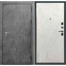 Входная дверь Прогресс внутренняя отделка ПВХ светлый бетон