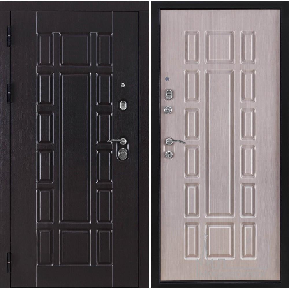 Входная дверь Консул внутренняя отделка ПВХ кремовая лиственница