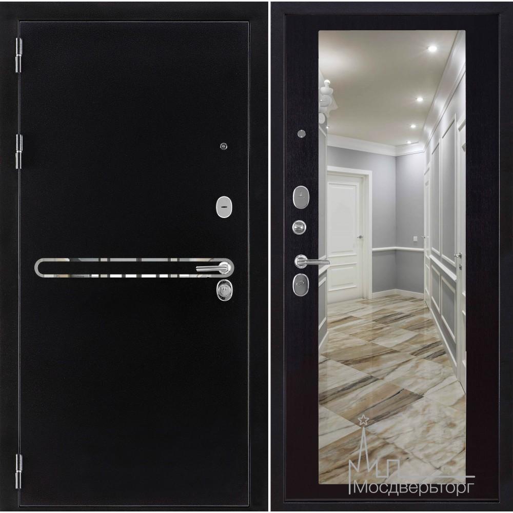 Входная дверь Президент с зеркалом ПВХ венге