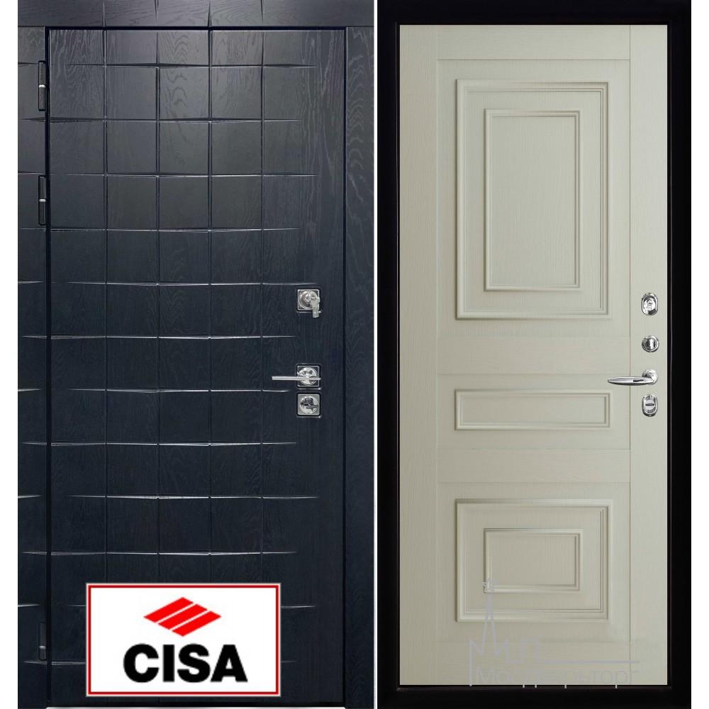 """Сенатор плюс, панель 62001 серена светло серый с замком """"Cisa"""""""