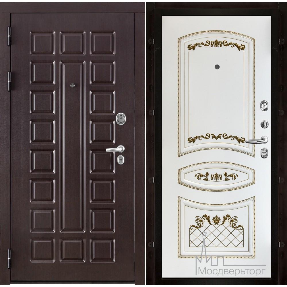 Входная дверь Сенатор, панель Алина белая эмаль