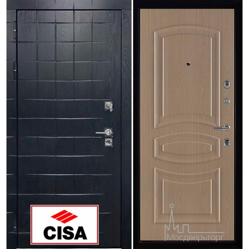 Сенатор-плюс, с замком Cisa панель Анастасия белёный дуб