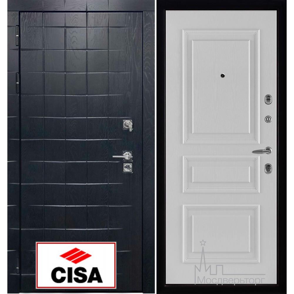 Сенатор-плюс, с замком Cisa панель Вена белый ясень