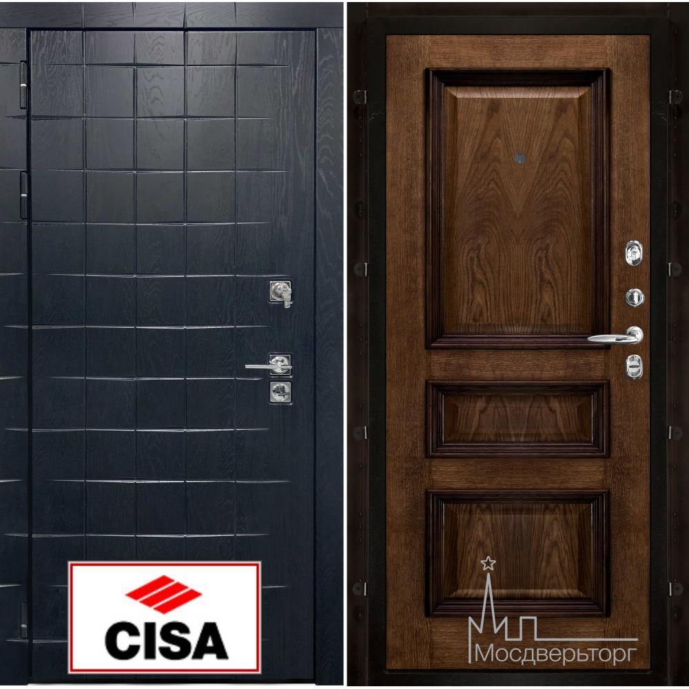 Сенатор-плюс, с замком Cisa панель Барселона бренди натуральный шпон