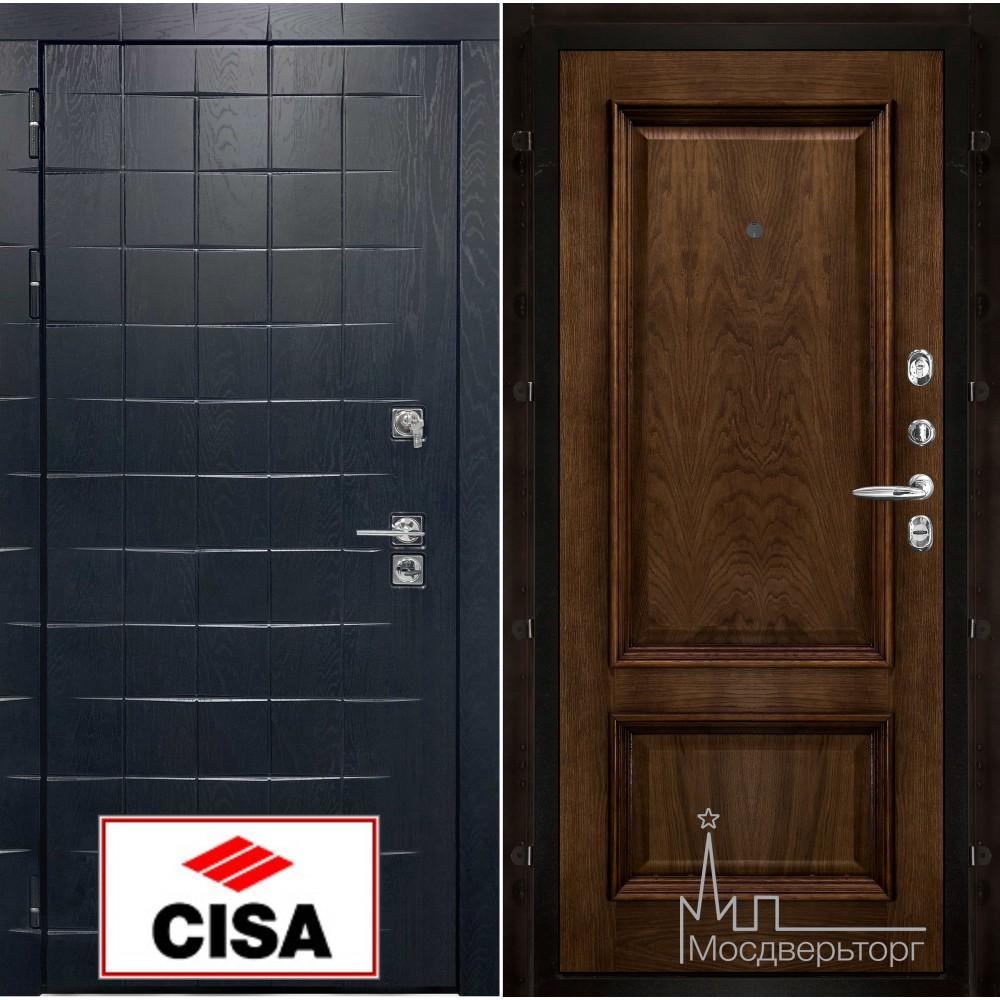 Сенатор-плюс, с замком Cisa панель Корсика бренди натуральный шпон