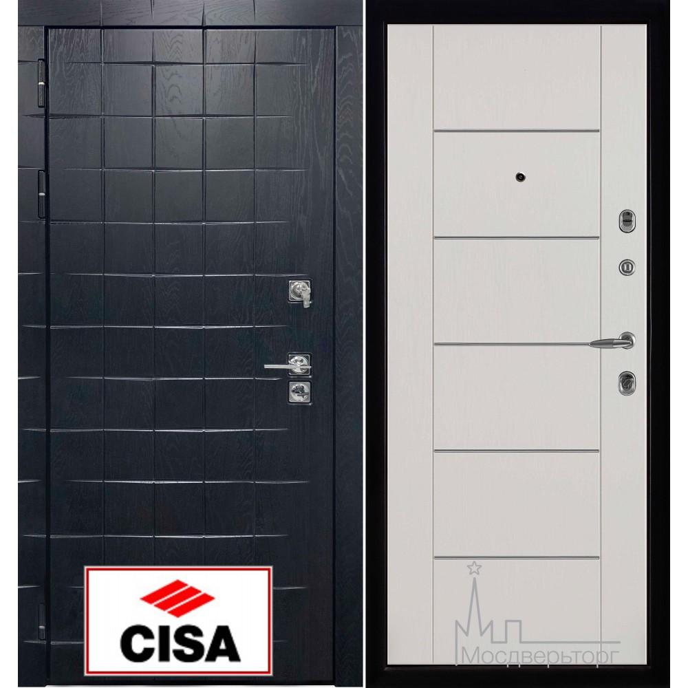 Сенатор-плюс, с замком Cisa панель Лайт МD - 003 белый ясень