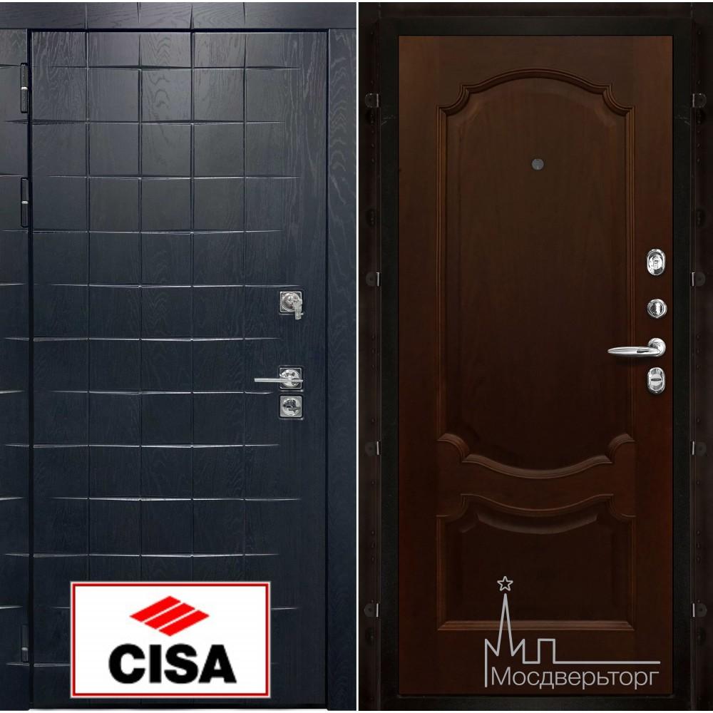 Сенатор-плюс, с замком Cisa панель Монако Орех тон 2 натуральный шпон