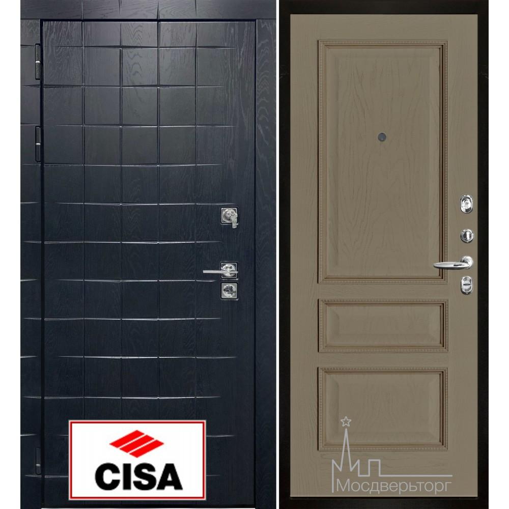 Сенатор-плюс, с замком Cisa панель Вена нефрит тон 2 натуральный шпон