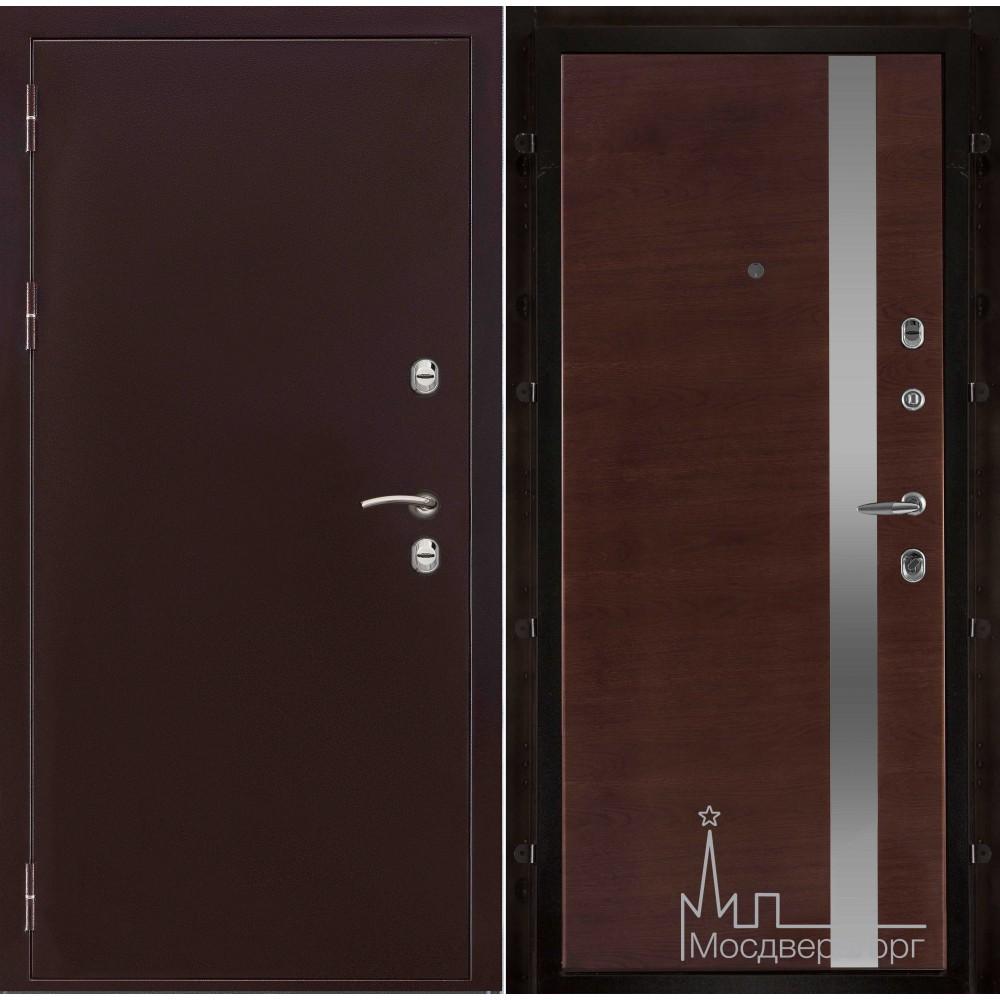 Термо-3 медный антик панель UNO бренди натуральный шпон