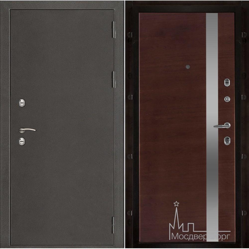 Термо-3 темное серебро панель UNO бренди натуральный шпон