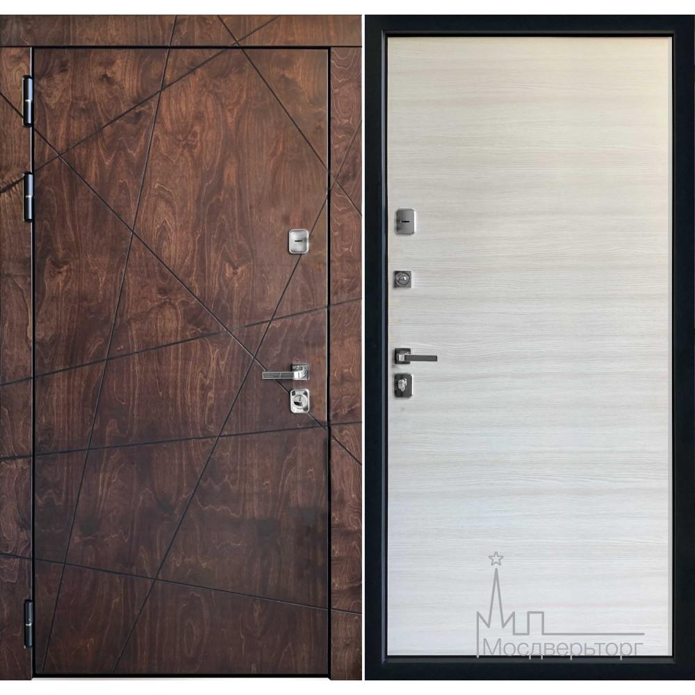 Входная дверь Вегас лиственница мореная панель дуб молочный