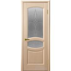 Межкомнатная дверь Анастасия белёный дуб стекло