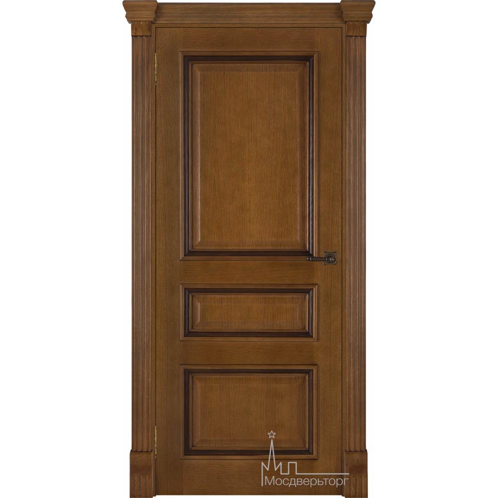 Межкомнатная дверь Барселона, дуб патина Antico, глухая
