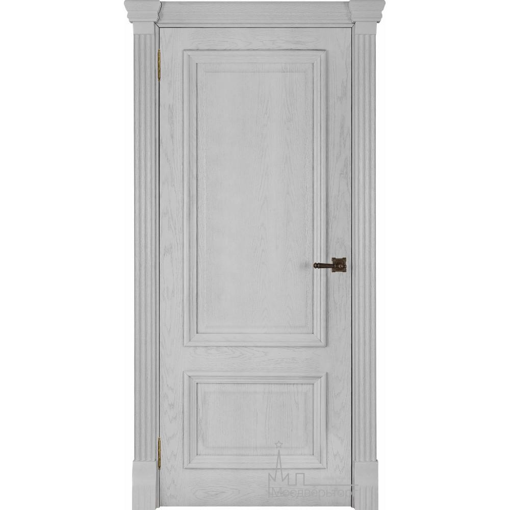 Межкомнатная дверь Корсика, дуб Perla, глухая