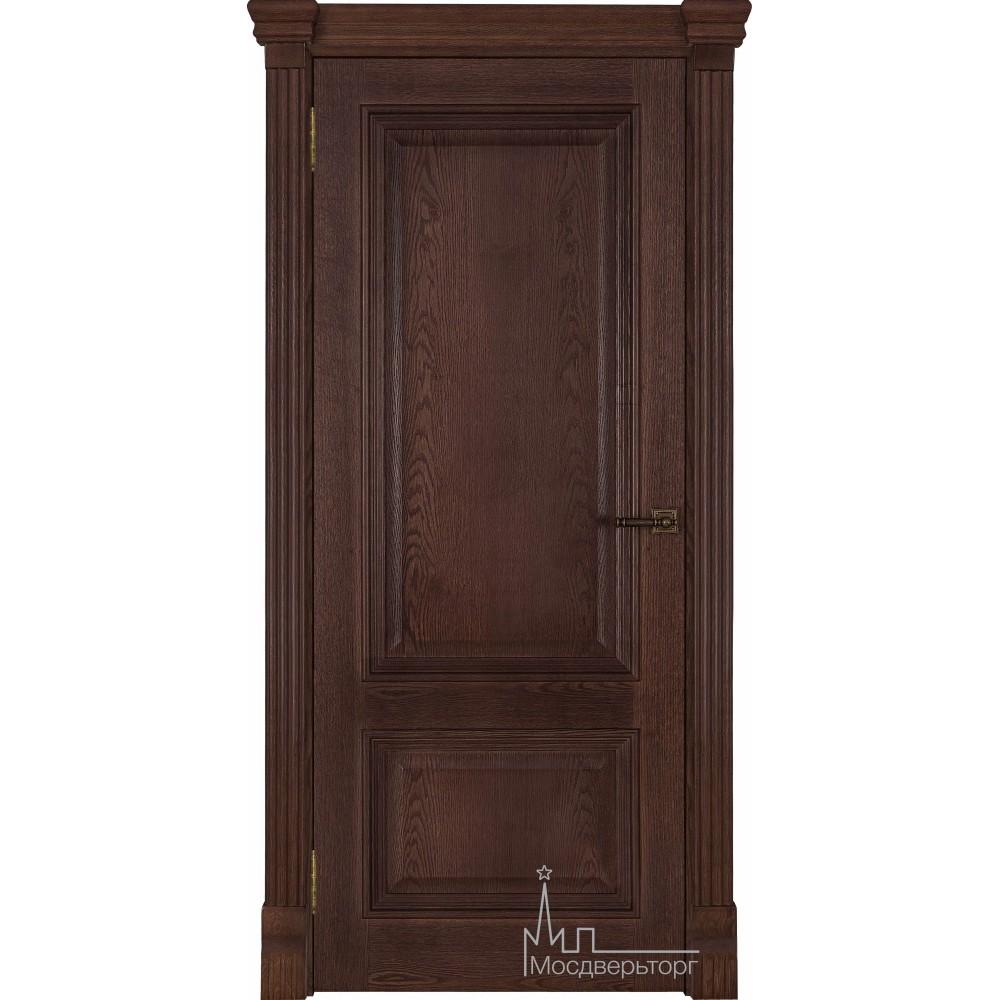 Межкомнатная дверь Корсика, дуб Brandy, глухая