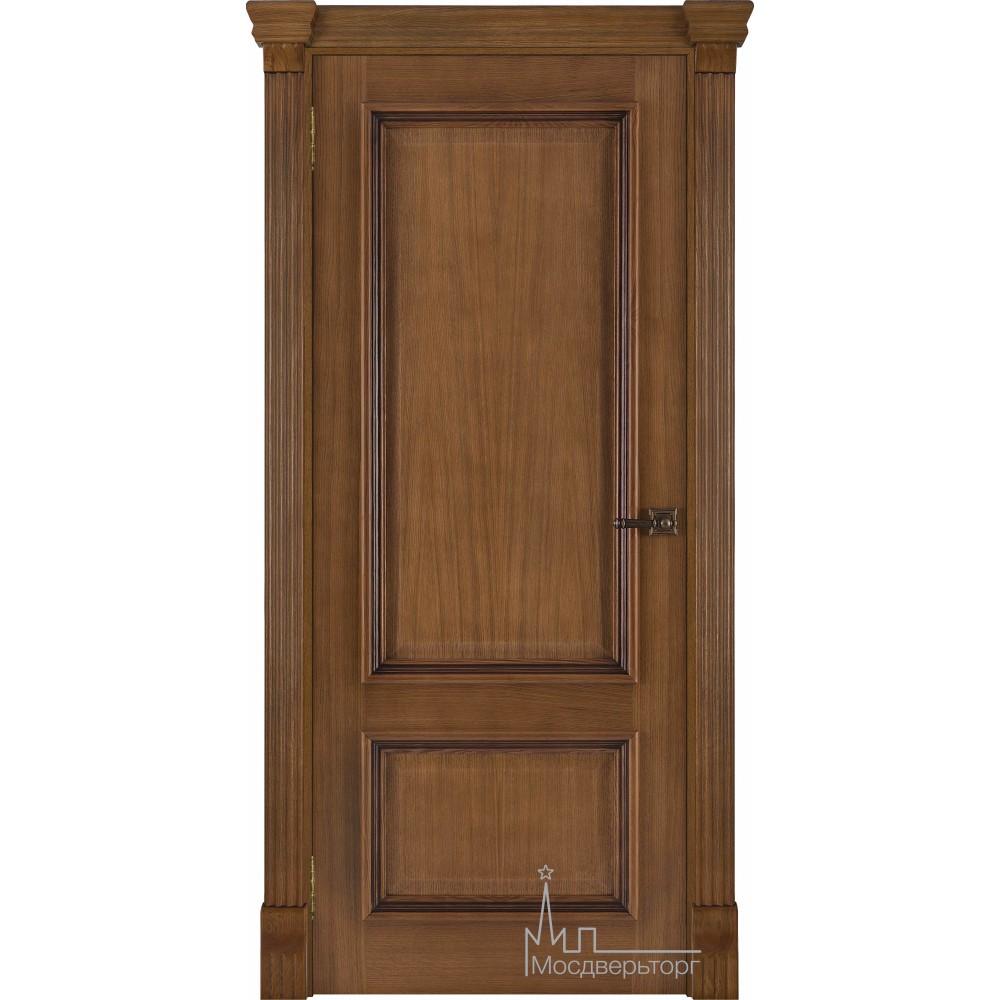 Межкомнатная дверь Корсика, дуб патина Antico, глухая