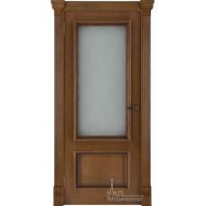 Межкомнатная дверь Корсика, дуб патина Antico, стекло