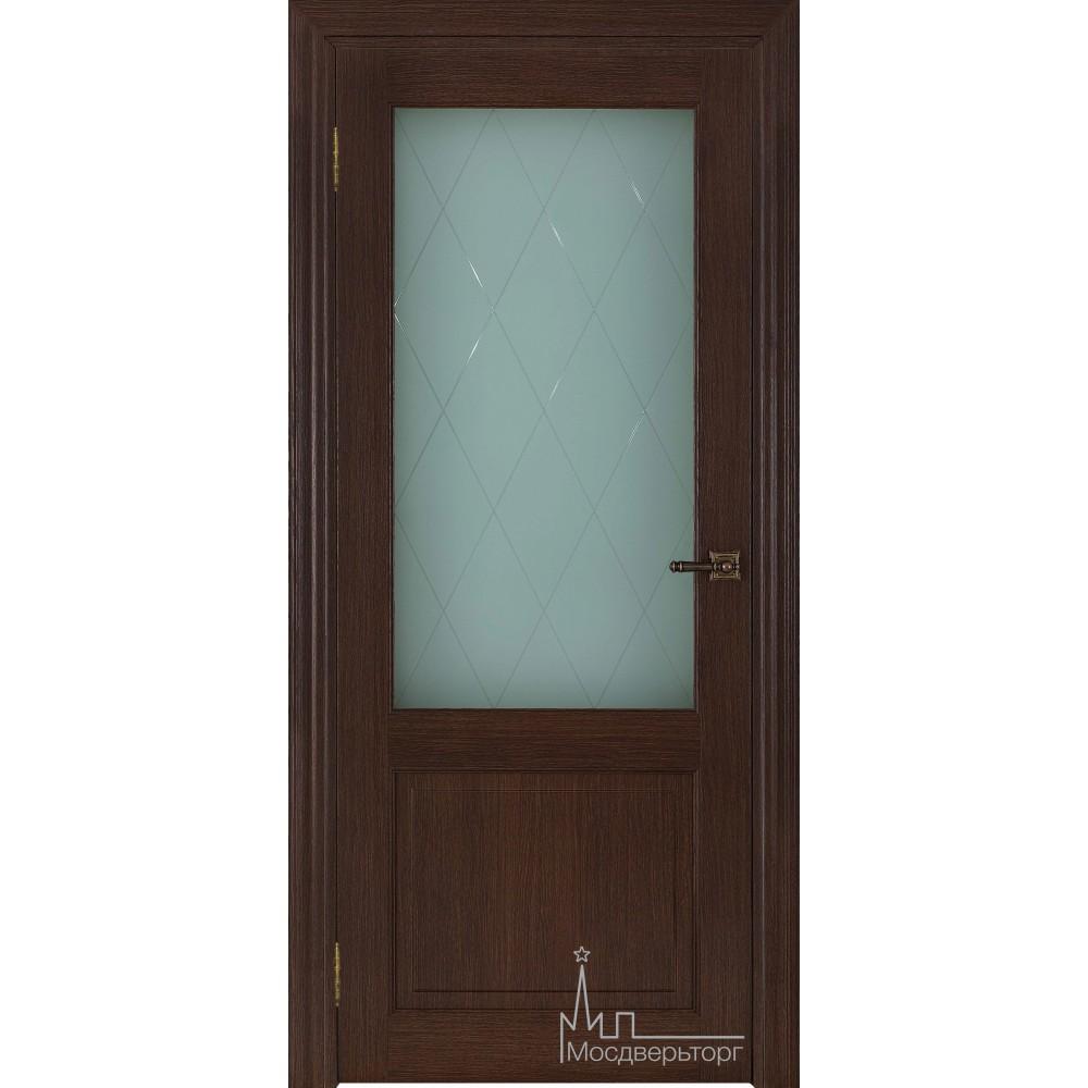 Межкомнатная дверь Экошпон 40004 Дуб французский, стекло